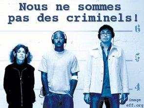 Nous ne sommes pas des criminels